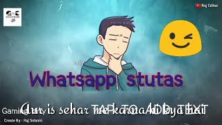Whatsapp stutas)(Whit bad man😋 this is best /by gaming city