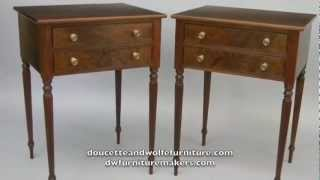 Walnut Nightstand With Reeded Legs Handmade By Doucette And Wolfe Furniture Makers