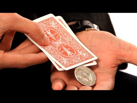 How to Produce a Coin from 2 Cards | Coin Tricks - YouTube