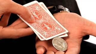 How to Produce a Coin from 2 Cards | Coin Tricks