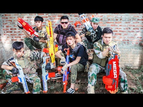 LTT Nerf War : SQUAD SEAL X Warriors Nerf Guns Fight Intrusion Situation Criminal Group