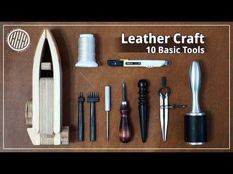 [Leather Craft] 10 leather craft tools for beginners / basic / everyday tool for me