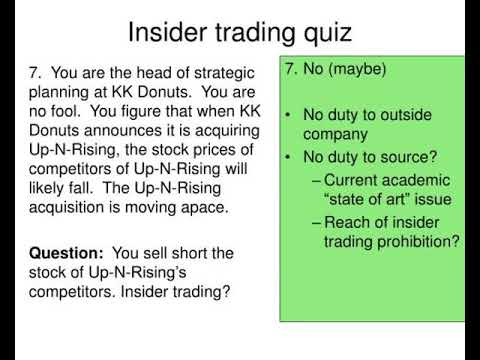 insider trading federal law