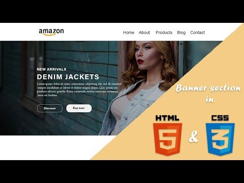 Create Banner (Hero) Section In Html And Css || UI Dev
