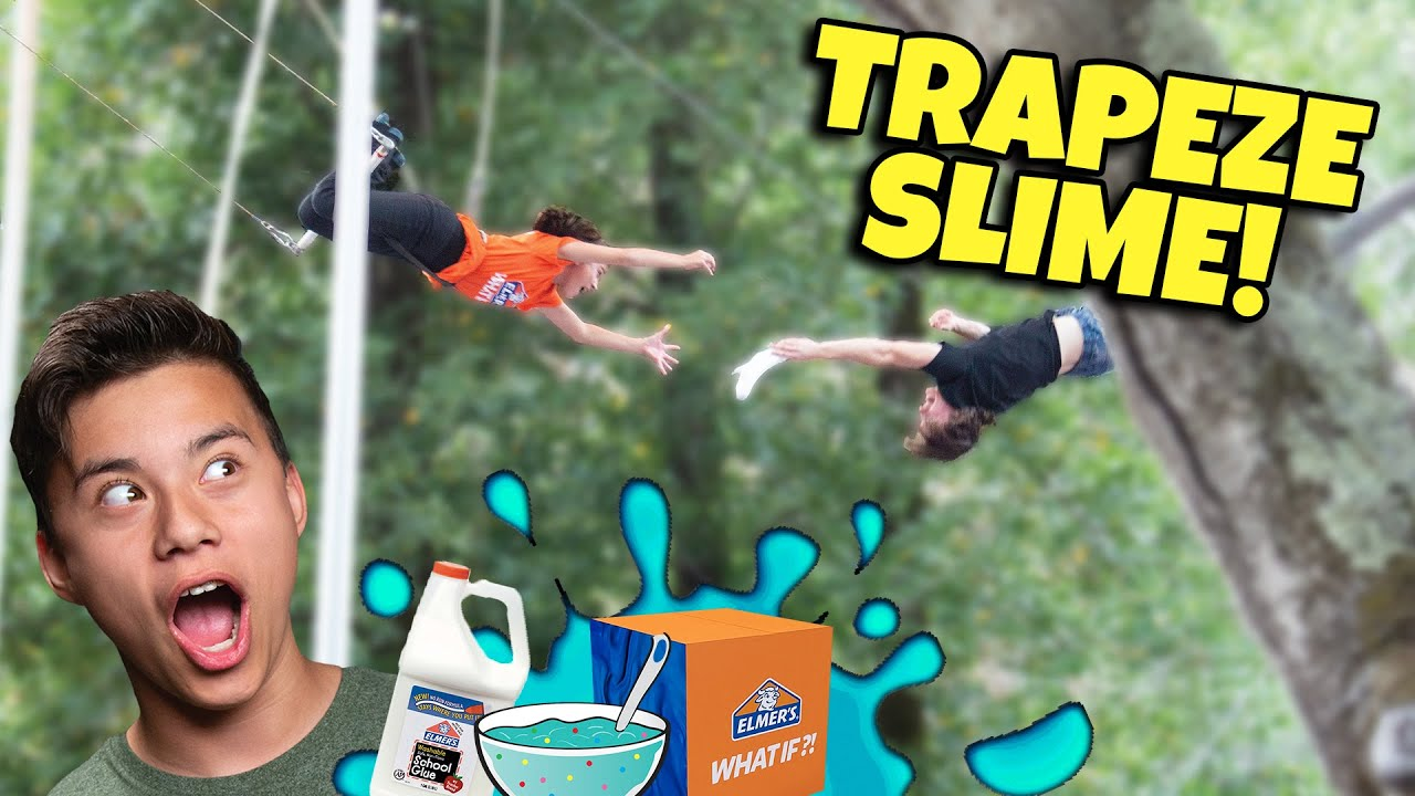 EVAN AND JILLIAN MAKE DIY SLIME AT TRAPEZE SCHOOL!