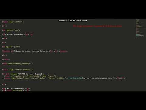 Currency Convert In HTML Source Code || HTML Language