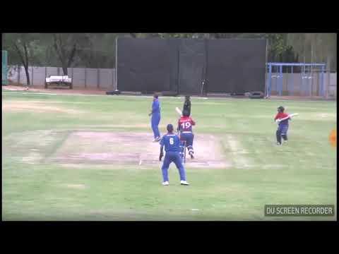 Basant Regmi 6 in World cricket league 2018 VS Namibia