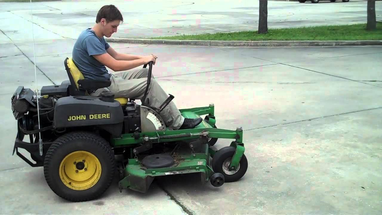 18301 2000 John Deere JD Z Trak M665 Zero Turn Riding Mower with 60 Deck - YouTube