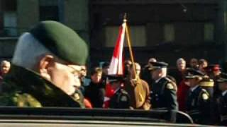 Canadian Soldiers Return Home Along the Highway of Heroes in Downtown Toronto on March 23, 2009