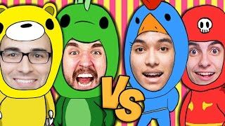 Rei do Gang Beasts-  VELHA VS NOVA GUARDA com Leon, Edu, Authentic e Baixamemoria thumbnail