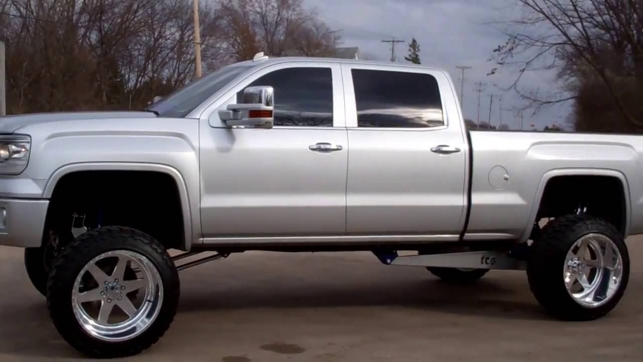 SOLD! 8686 2014 GMC SIERRA 1500 CREW SHORT SLT LIFT SEMA ...