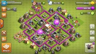 Clash of Clans Uh! Finally 125/125 walls max!!