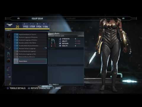Injustice 2 - Showcasing Wonder Woman Gear (so far)