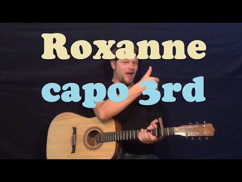 Roxanne The Police Easy Guitar Lesson Strum Chords How To Play