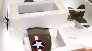 unboxing only 2s bl e flite umx p 47 thunderbolt wwii warbird rc plane bnf basic with as3x