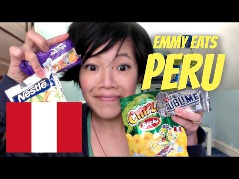 Emmy Eats Peru - tasting Peruvian snacks & sweets