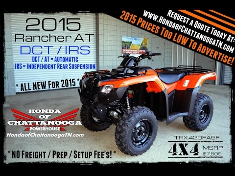 2015 Honda Rancher 420 At Irs For Sale Chattanooga Tn Ga Al Area
