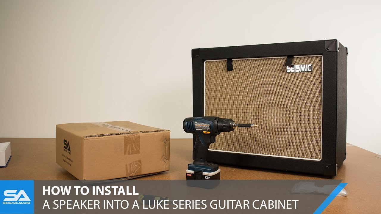 How To Install A Speaker Into Luke Series Cabinet Youtube Wiring 1x12 Guitar