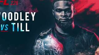 UFC 228 Woodley vs. Till Fight Poster Speed Art