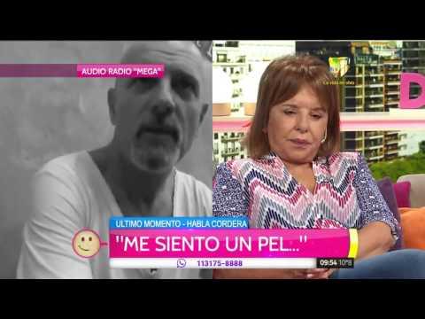 Gustavo Cordera: Siento vergüenza, me mandé una cagada
