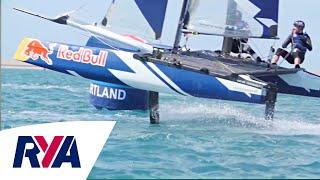 red bull foiling generation uk flying phantom british sailing team sailors win