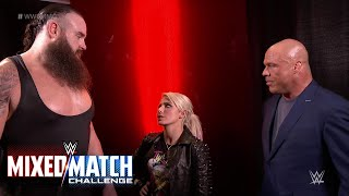 Kurt Angle pairs Alexa Bliss and Braun Strowman for WWE Mixed Match Challenge