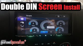 Navigation Screen in dash DVD / Double DIN / Stereo Install / Installation