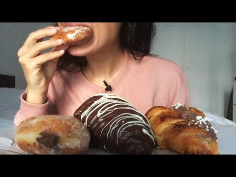 EATING: Chocolate Croissants & Donuts 🍩🥐| Eating Show/Eating Sounds/ASMR
