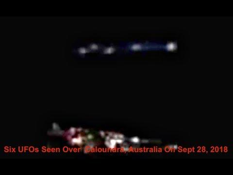 Six UFOs Seen Over  Caloundra, Australia On Sept 28, 2018, UFO Sighting News.