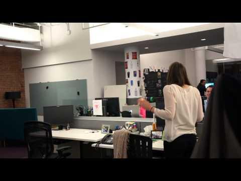 Air Horn + Office Chair Prank (Extended Cut) - Best 2014 April Fools Prank