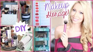 Diy Makeup Storage And Organization Ideas!