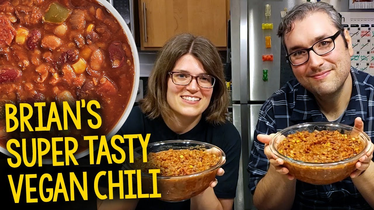 Recipe Brian S Super Tasty Vegan Chili Plant Based Oil Free Krocks In The Kitchen