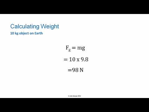 How to Calculate the Weight Force on an Object - HSC Physics