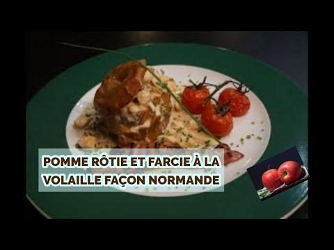 pomme-fruit-farcie-à-la-volaille-façon-normande