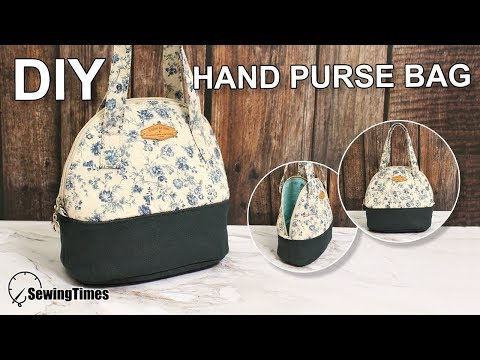 DIY HAND PURSE BAG 손가방만들기 | Round Purse Making | Small Tote Sewing Tutorial [sewingtimes]