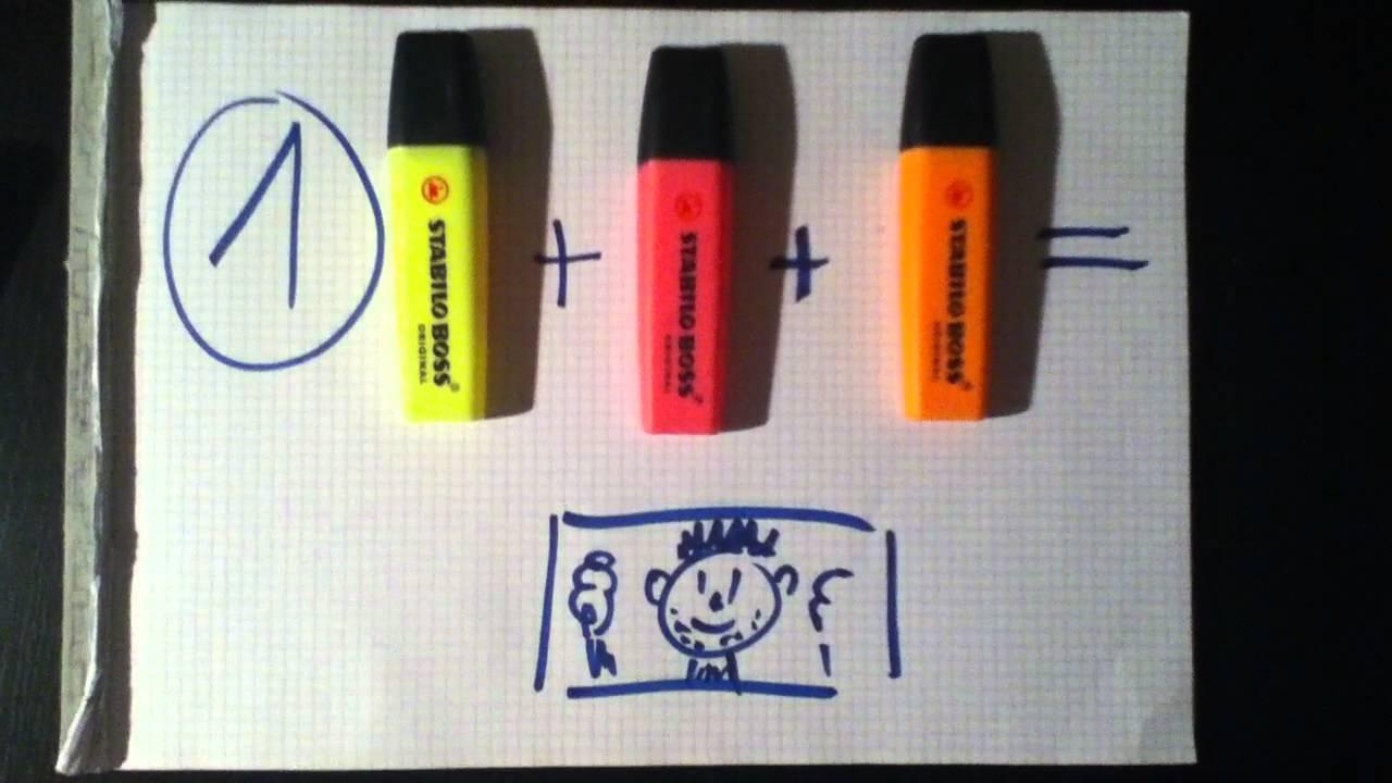 Textmarker Zeichnungen selber machen und zum Leuchten bringen mit ...