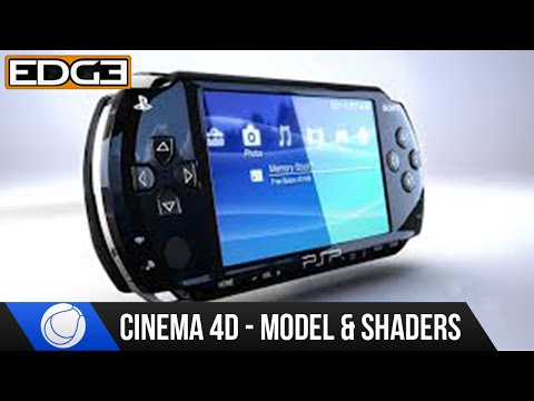 Cinema 4D Tutorial - Modeling and Shading The Sony PSP HD #1