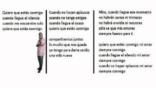 Quiero que estes con migo - Cecilia Barraza y Lucia de La Cruz [Letra] Official