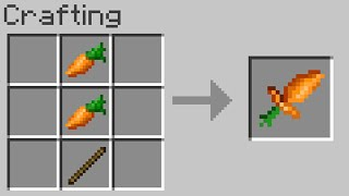Minecraft but you can craft weapons from any food...