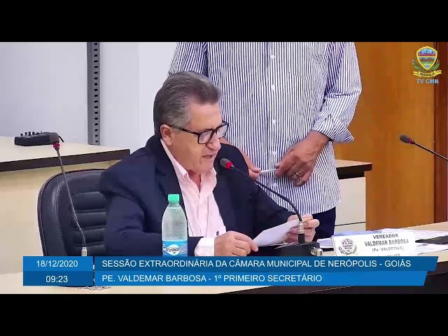 Sessão Extraordinária da Câmara Municipal de Nerópolis 18/12/2020