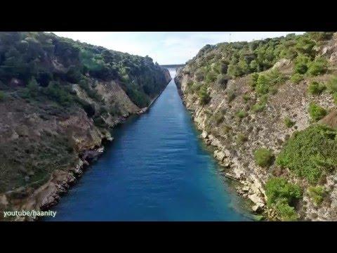 Ισθμός Κορίνθου   Corinth Canal Drone Greece DJI Phantom 3