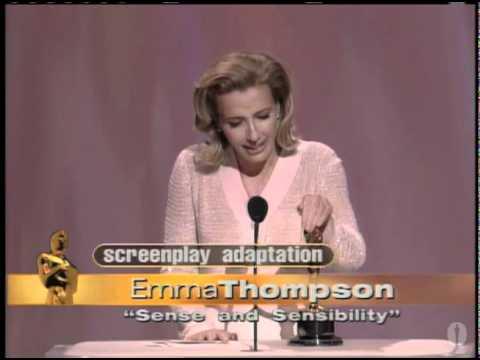 "Emma Thompson winning an Oscar® for ""Sense and Sensibility"""
