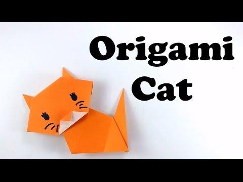 Cute and Easy Origami Cat - Tutorial for Beginners #origami animal - DIY - Paper Cat