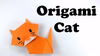 Cute and Easy Origami Cat - Tutorial for Beginners  #origami animal - DIY - Paper Cat