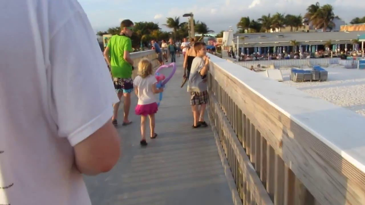Walking Down Pier At Times Square Ft Myers Beach Florida Love