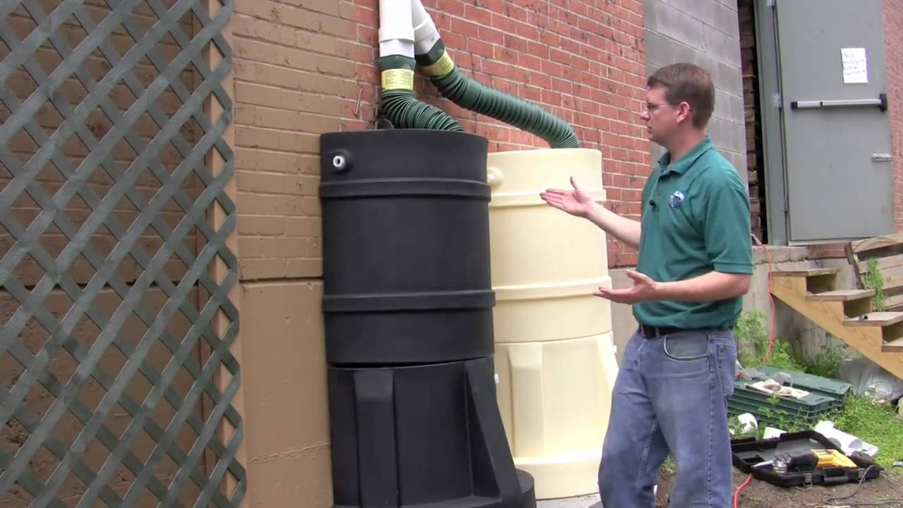 Installing A Multi Rain Barrel And Downspout System Youtube