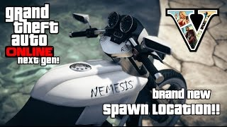 GTA V Online: Brand New Rare Nemesis Bike Spawn Location Found! 2015 Next Gen