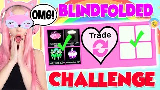 I Tried The BLINDFOLDED TRADE CHALLENGE In Royale High... Roblox Royale High Trading