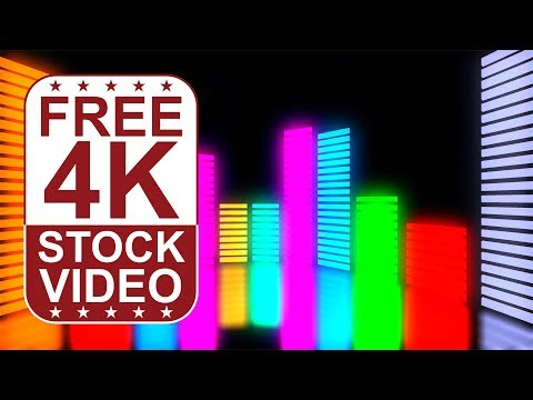 FREE 4K UltraHD VFX Video Backgrounds – abstract colorful animated digital music equalizer
