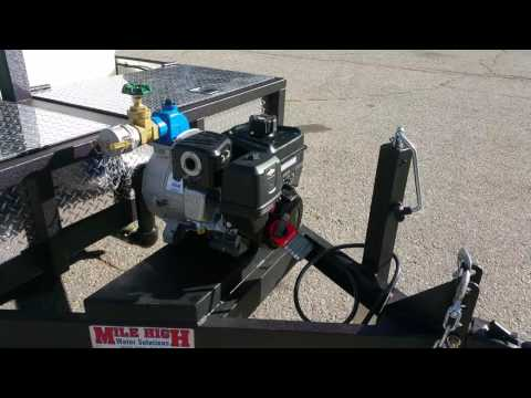 Solar powered water trailer